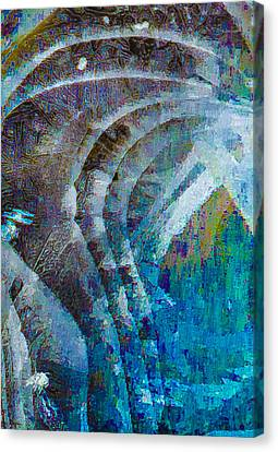 Creek Ice Abstract I Canvas Print