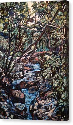 Creek Near Smart View Canvas Print by Kendall Kessler
