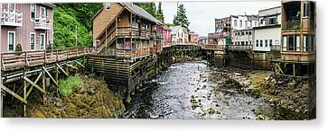 Creek Street On Ketchikan Creek Canvas Print by Panoramic Images
