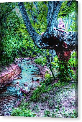 Canvas Print featuring the photograph Creek Time Enchantment by Lanita Williams