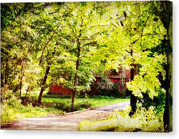 Creekside Barn Canvas Print by Chastity Hoff