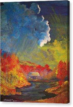 Creekside Home Canvas Print