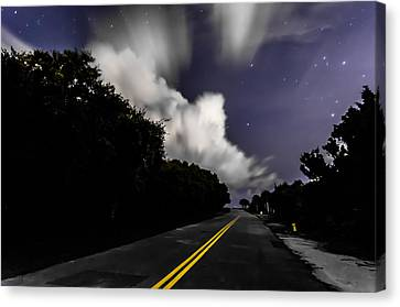 Creeping Clouds Canvas Print