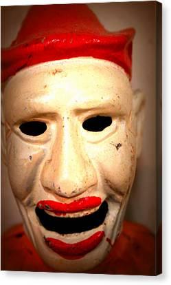 Canvas Print featuring the photograph Creepy Clown by Lynn Sprowl