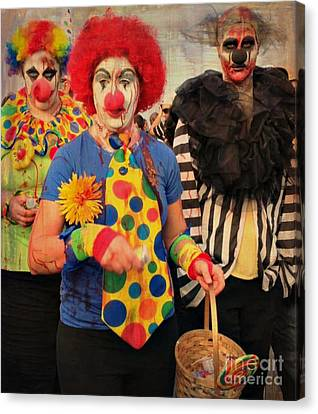 Creepy Clowns Canvas Print by Lilliana Mendez