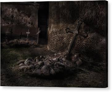 Creepy Crosses Canvas Print by Gary Warnimont