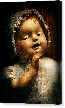 Creepy - Doll - Come Play With Me Canvas Print by Mike Savad