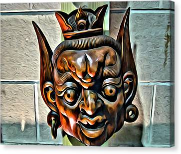 Creepy Mask Two Canvas Print by Alice Gipson