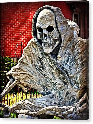 Creepy Reaper 2 Canvas Print by Marty Koch