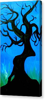 Creepy Tree Canvas Print by James Middleton