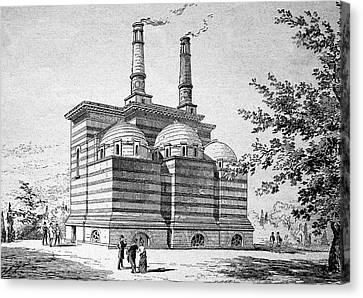 Crematorium Canvas Print by Bildagentur-online/tschanz