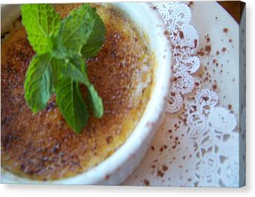 Creme Brulee With Mint Canvas Print