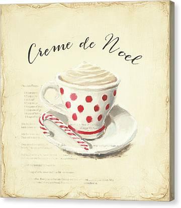 Creme De Noel Canvas Print by Emily Adams