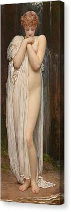 Crenaia The Nymph Of The Dargle Canvas Print by Frederic Leighton