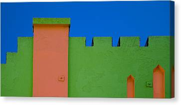 Crenellated Roof Canvas Print