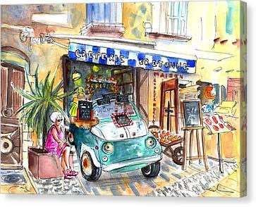 Creperie Bretonne In Collioure Canvas Print by Miki De Goodaboom