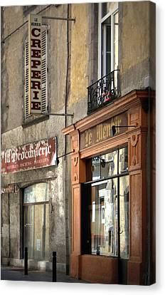 Creperie In Clermont Ferrand France Canvas Print by Georgia Fowler