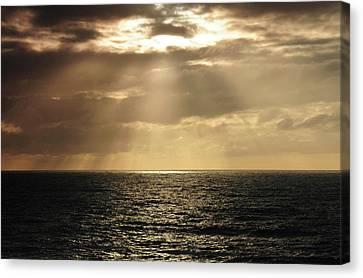 Crepuscular Rays Canvas Print - Crepuscular Rays, Depoe Bay, Oregon, Usa by Michel Hersen