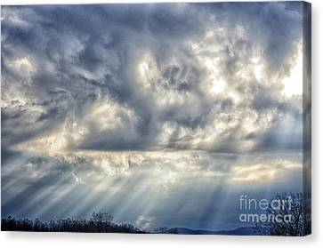 Crepuscular Rays Canvas Print by Thomas R Fletcher