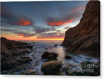 Crescent Bay Cove At Dusk Canvas Print by Eddie Yerkish