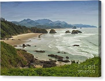 Crescent Beach Oregon Canvas Print by Carrie Cranwill