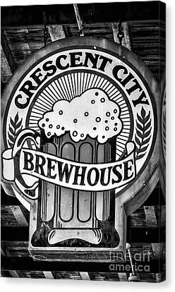 Crescent City Brewhouse - Bw Canvas Print by Kathleen K Parker