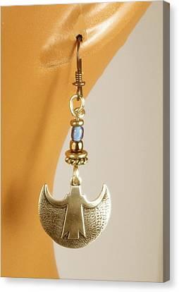 Crescent Goddess Earrings Canvas Print by Vagabond Folk Art - Virginia Vivier