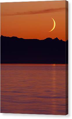 Crescent Moon Canvas Print by Jim Lundgren