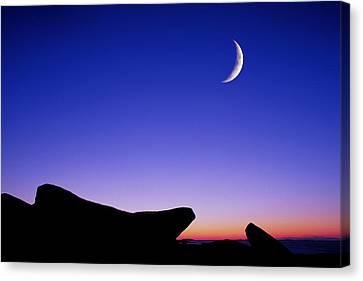 Crescent Moon Halibut Pt. Canvas Print by Michael Hubley