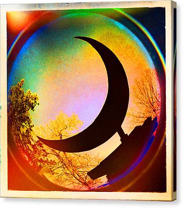 Crescent Moon Over Eureka Springs Canvas Print by Garry McMichael