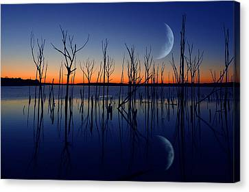 The Crescent Moon Canvas Print by Raymond Salani III