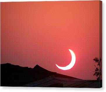 Crescent Sunset Canvas Print by Tom DiFrancesca