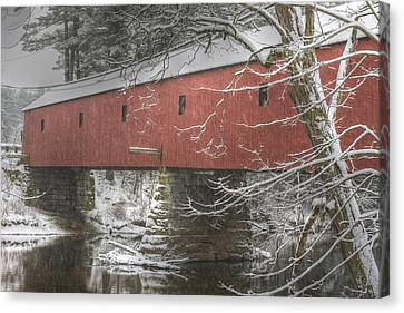 Cresson Bridge  Nh Canvas Print by Gail Maloney