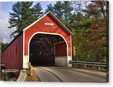 Fall Scenes Canvas Print - Cresson Covered Bridge 2 by Joann Vitali