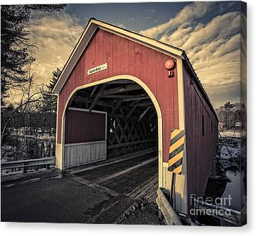 Cresson Covered Bridge Sawyer Crossing Canvas Print