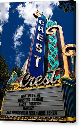 Family Crest Canvas Print - Crest Theater by John Daly