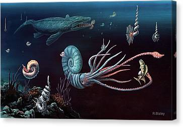 Cretaceous Marine Animals Canvas Print