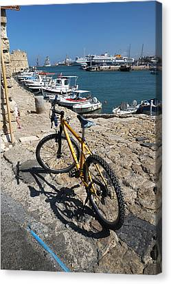 Crete Bicycle Canvas Print by John Jacquemain