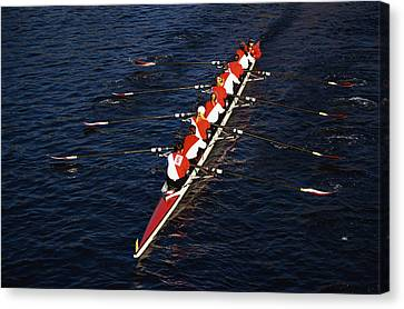 Crew Boat At Head Of Charles Regatta Canvas Print by Panoramic Images