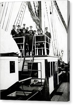 Crew Of Carnegie Research Vessel Canvas Print