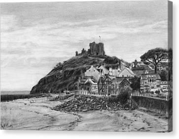 Criccieth Beach Wales Uk Canvas Print