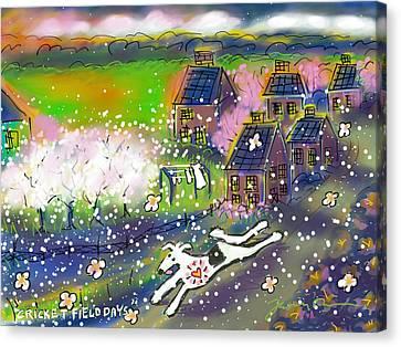 Cricket Field Days Canvas Print by Jean Pacheco Ravinski