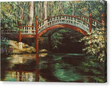 William And Mary Canvas Print - Crim Dell Bridge - College Of William And Mary by Gulay Berryman