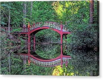 Crim Dell Bridge In Summer Canvas Print by Jerry Gammon