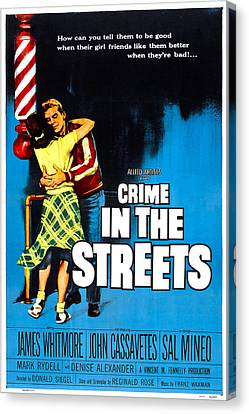 1950s Poster Art Canvas Print - Crime In The Streets, Us Poster, Denise by Everett