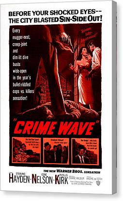 Crime Wave, Aka The City Is Dark, Us Canvas Print by Everett