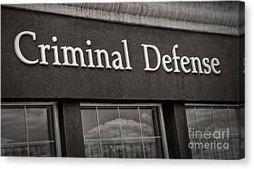 Criminal Defense Law Practice Canvas Print by Phil Cardamone