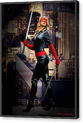 Crimson Avenger The Penthouse Watch Canvas Print