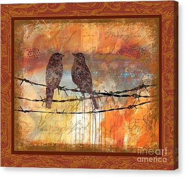 Crimson Birds Canvas Print