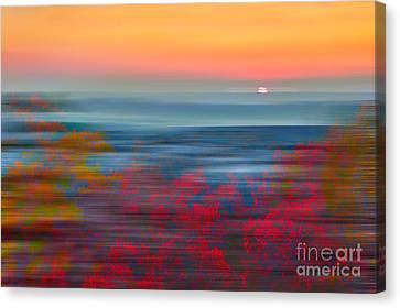 Crimson Dawn - A Tranquil Moments Landscape Canvas Print by Dan Carmichael